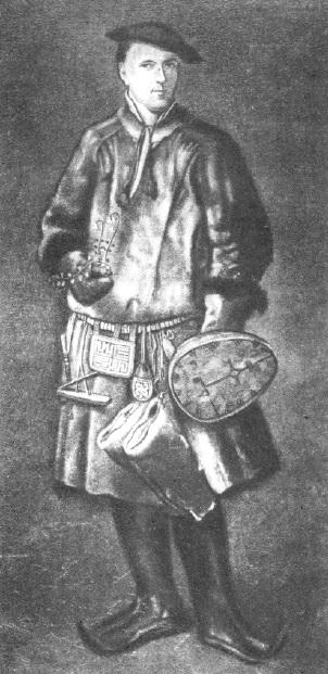 Карл Линней в возрасте 30 лет в лапландском платье