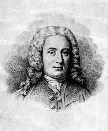 Портрет Линнея в возрасте 33 лет. По репродукции с гравюры Эренсверда. 1740